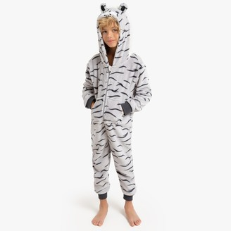 La Redoute Collections Tiger Onesie, 3-12 Years