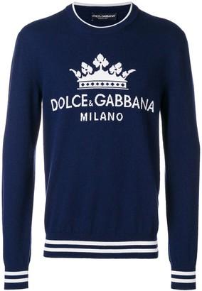 Dolce & Gabbana crown logo intarsia jumper