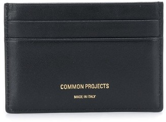 Common Projects logo stamped cardholder
