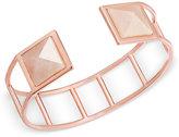 Vera Bradley Rose Gold-Tone Pink Stone Cuff Bracelet