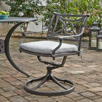 Flagg Cast Aluminum Outdoor Swivel Patio Dining Chair Darby Home Co Color: Gray