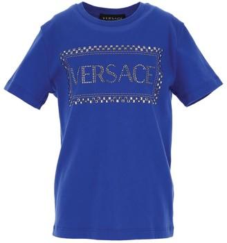 Versace Kids Studded '90s Vintage Logo T-Shirt (4-14 Years)
