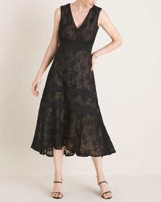 Taylor Embroidered Eyelet Midi Dress