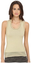 M Missoni Solid Lurex Tank Top