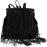 Donalworld Woen Tassel Backpack Book Travel Drawstring PU Leather Bag
