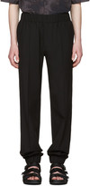 Versace Black Wool Cuff Trousers