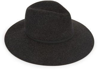 Saks Fifth Avenue Leather-Trimmed Wool Fedora