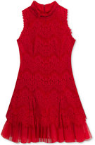 Rare Editions Lace Mock-Neck Party Dress, Big Girls (7-16)