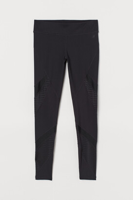 H&M Sports tights with mesh