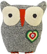 Anne Claire Crochet Owl Cushion - 30x25cm - Black