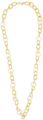 Kenneth Jay Lane Knotted Chain Link Necklace