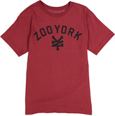 Zoo York Biking Red Heather & Black Logo Tee - Boys