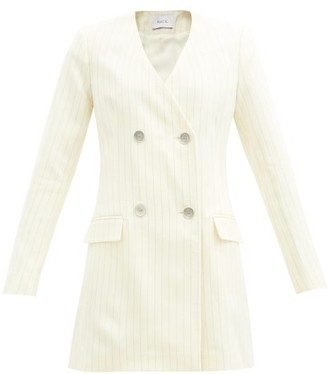 Racil Laura Pinstriped Wool-blend Blazer Dress - Ivory