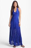 Nordstrom FELICITY & COCO Stripe Halter Maxi Dress Exclusive)