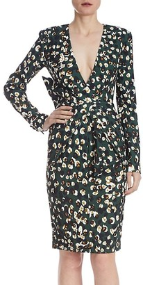 Badgley Mischka Metallic Leopard Print Dress