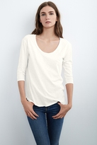 Picarda 3⁄4 Sleeve Cotton Slub Tee