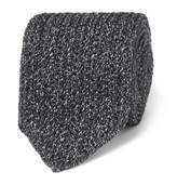 Ermenegildo Zegna 6cm Mélange Knitted Silk And Wool-Blend Tie