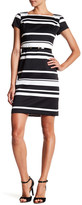 Ellen Tracy Stripe Pique Dress