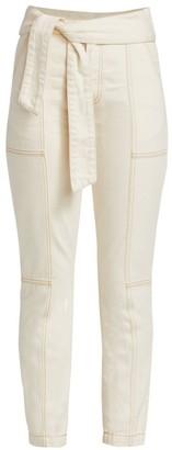 JONATHAN SIMKHAI STANDARD Paisley Belted Cotton Trousers