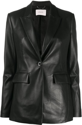 Dorothee Schumacher Faux-Leather Blazer Jacket