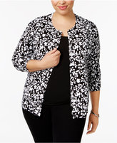 Karen Scott Plus Size Printed Cardigan