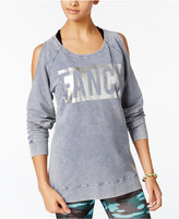 Material Girl Active Juniors' Cold-Shoulder Sweatshirt, Only at Macy's