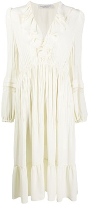 Philosophy di Lorenzo Serafini Ruffle-Trimmed Midi Dress