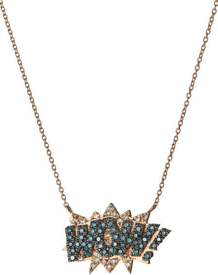 Diane Kordas WOW! 18kt Rose Gold Necklace with Diamonds