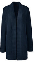 Classic Women's Long Shaker Cardigan Sweater-Radiant Navy