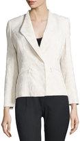Lafayette 148 New York Coraline Open-Front Tweed Jacket, Cloud