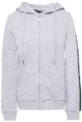 Love Moschino Printed Melange French Cotton Terry Hoodie
