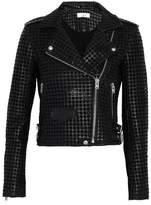 IRO Eyelet-Embellished Leather Biker Jacket