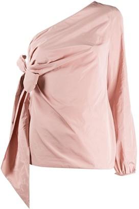 No.21 one shoulder draped blouse