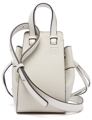 Loewe Hammock Mini Leather Cross-body Bag - White