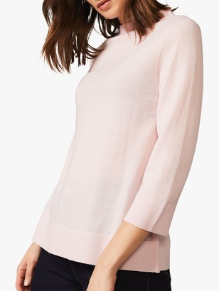 Phase Eight Addie Funnel Neck Jumper, Pale Pink