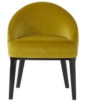 Sonder Living Cersie Upholstered Parsons Chair in Yellow