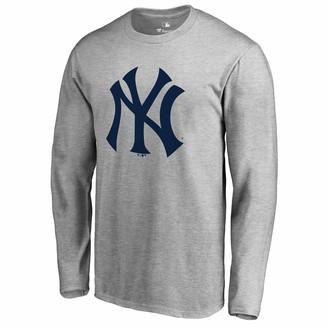 New York Yankees Men's Fanatics Branded Heathered Gray Primary Team Logo T-Shirt