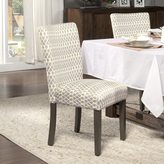 HomePop Gray Diamond Parson Chairs (Set of 2)