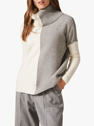 Phase Eight Rae Roll Neck Colourblock Jumper