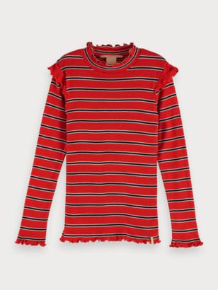 Scotch & Soda Striped Rib Knitted T-Shirt | Girls