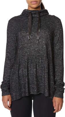 Betsey Johnson Cowl-Neck Peplum Sweatshirt