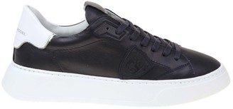 Philippe Model Temple Sneakers In Blue Leather