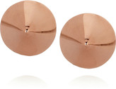 Eddie Borgo Rose gold-plated cone stud earrings