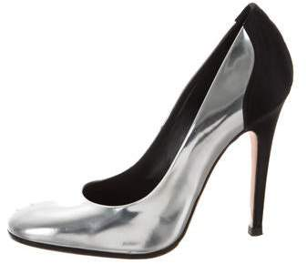 Giambattista Valli Metallic Round Pumps