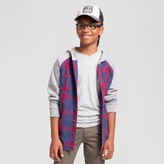 Cat & Jack Boys' Long Sleeve Hooded Flannel Button Down Shirt Cat & Jack - Red