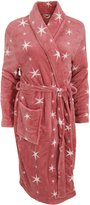 Universal Textiles Womens/Ladies Star Print Winter Bath Robe/Dressing Gown