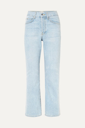 Eve Denim Jane High-rise Flared Jeans - Light denim