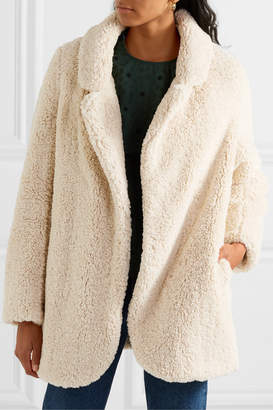Vanessa Bruno Murray Faux Shearling Coat - Ivory