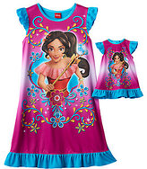 Disney Disney's Elena of Avalor Girls 4-8 Dorm Nightgown & Doll Gown Set