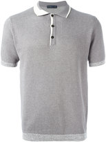Etro contrast collar polo shirt - men - Cotton/Cashmere - L